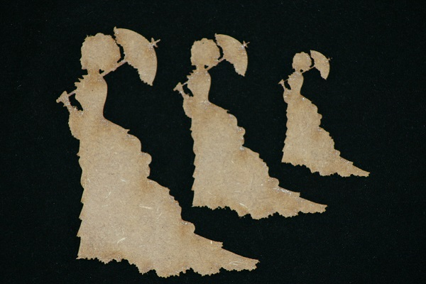 3 Lady Silhouettes