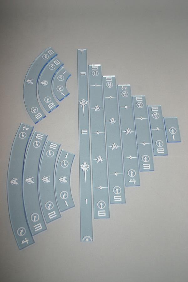 Star Trek Attack Wing Gaming Ruler Set - Federation Blue